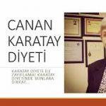Canan Karatay diyeti ile zayıflama